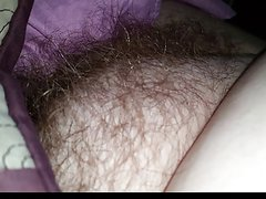 tired bbw wife gets played with, big tits, nipples, hairy