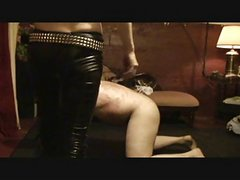 slave getting a kicking and trampling