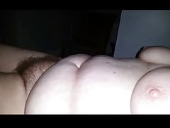 rough night, wife is very tired, bbw, hairy pussy
