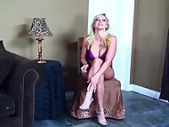 Gorgeous Blonde MILF Assfucked on back and Spreads WIDE for MORE