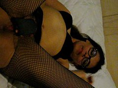 Mexican MILF Mina Luv Masturbates in Boots and Stalkings