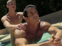 Twink video Alex is loving the sun on his bare bod when his