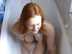 Red BrtTeen Alana Smith Takes a Bath and Toys
