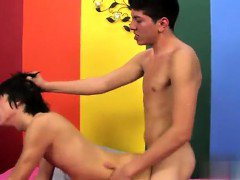 Hot twink scene Kyler pants as Jack deep throats on his unci