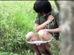 Asian women public piss