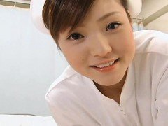 Subtitled POV Japanese nurse handjob with facesitting
