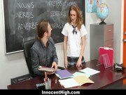 InnocentHigh - Schoolgirl Maci Winslett Fucks For The Grade