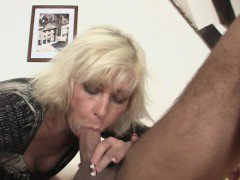 Granny rides her daughter\'s man cock as she gone