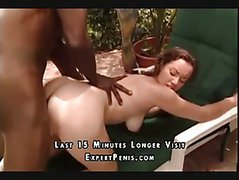 Black Guy Nails Piggy Tails By The Pool Cumshot
