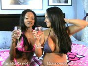 Diamond Jackson squirting black slut with big tits ass fucking webcam