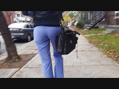Girfriend hidden cam follow street ass
