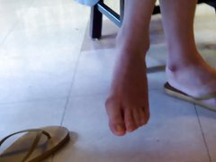 Candid Asian Library Girl Feet and Legs Final Part