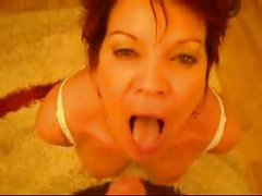 Cougar Head #60 Cheating Old UK Slut sucking Swedish BWC