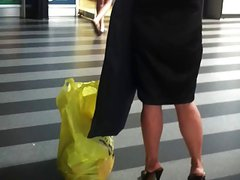 candid mature high heels
