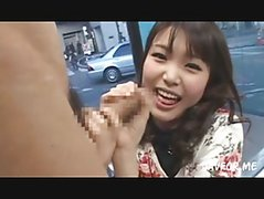 Cute Jap Girl Sucking Cock On Street