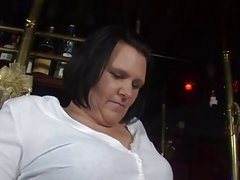 Chubby german mature fucked in a bar