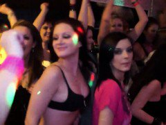 Amateur cfnm teens partying hard with strippers