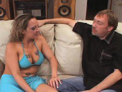 Curly Blonde Wife Gives Sloppy Seconds
