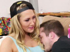 Creampie lusting teen fingered