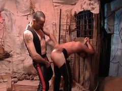 Nasty gay is tied and spanked  by guy part3