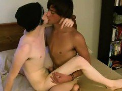 Twink movie of They embark off making out and with Aron suck