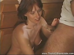 Wiping Cum From Her Hands