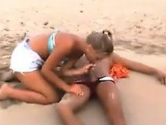 Sexy Blonde Riding Cock At The Beach