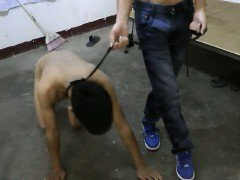 Asian Slave Boy doggy Trainning