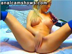 Blonde masturbating for her boyfriend on cam