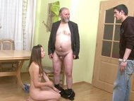 Old men - young girl HD