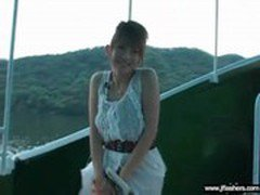 Japanese Girl Flashing Body In Public Place video-08