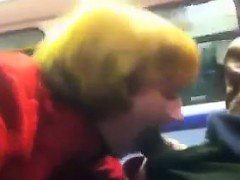 Blowjob On The Train