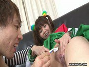 Tender Japanese teen gets her tender pussy shaved