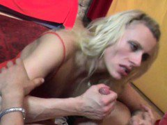 Cool MILF lapdancer sucks cock and gets fingering