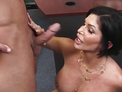Hot mature fucking with his young friend