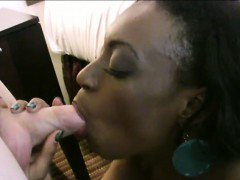 Three black girls foursome with white dude in hotel room