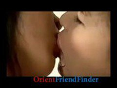 Sexy hot lesbian asian babes kissing