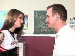 Sexy cheerleader seduce her teacher  part3