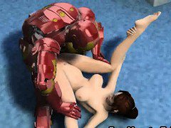 Yummy 3D cartoon babe getting fucked by Iron Man