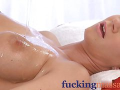 Massage Rooms Sensual lesbian action leads to tribbing