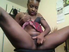 Dirty Ebony Teen Playing With Her Pussy