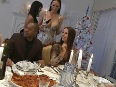 A Christmas Dinner .. with orgy!