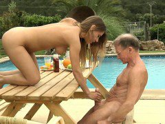 Big dick oldman drill Nikky\'s young ass and puss