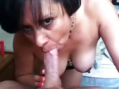 Mature Head #84 A 43 y.o. Latina giving a standing Blowjob!