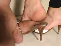 My wife trample my cock hard