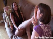Lady sneaks in to worship Sadie039s soft feet