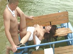 Sex in nature on a pedalo