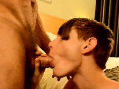 Amazing gay scene Twink rent dude Preston gets an phat drill