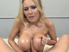 Blondes big oily breasts tit fuck