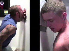 Young straight tricked into gay blowjob at gloryhole